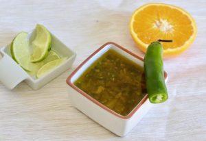 aliño de citrico de lima naranja para ensaladas verduras arroces organico